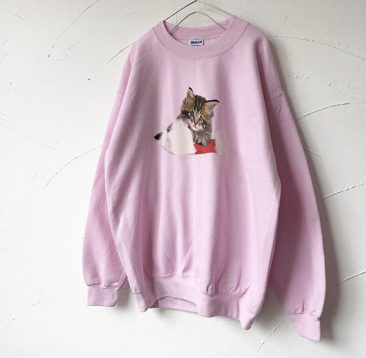Cat printed sweat shirt