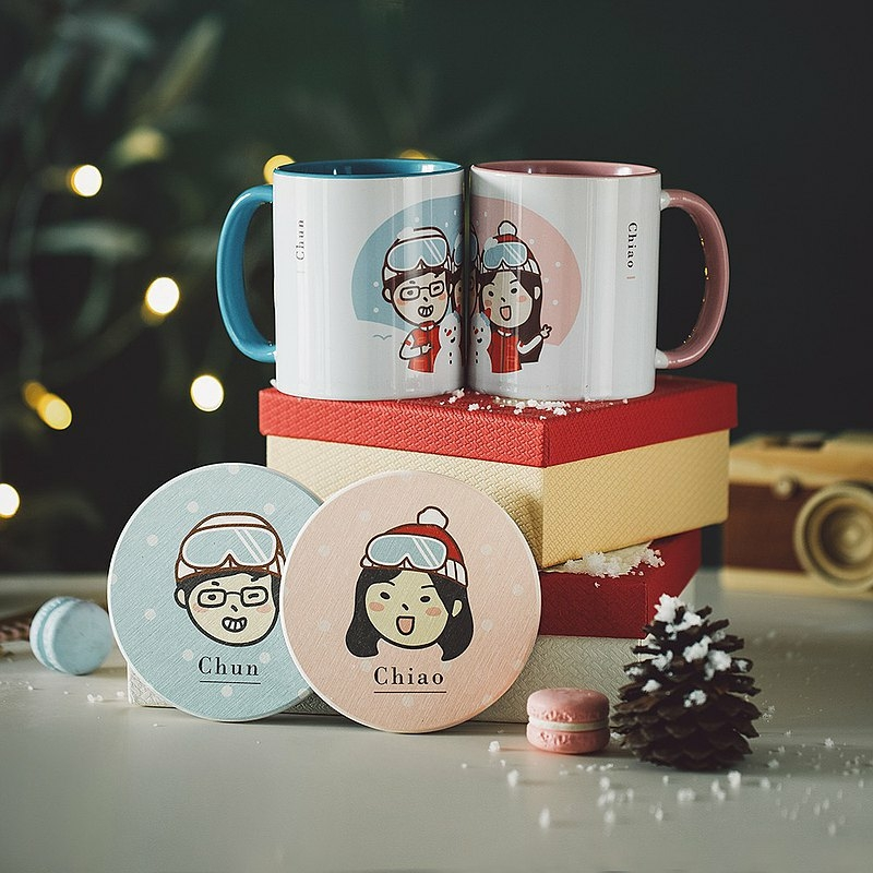 Christmas Sweet Couple Pair Cup Combination