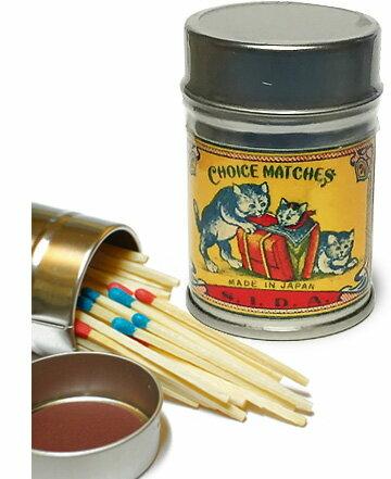 レトロラベル缶マッチ・猫003