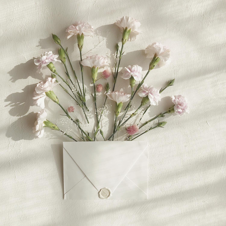 手紙から、素敵な香りが漂うように