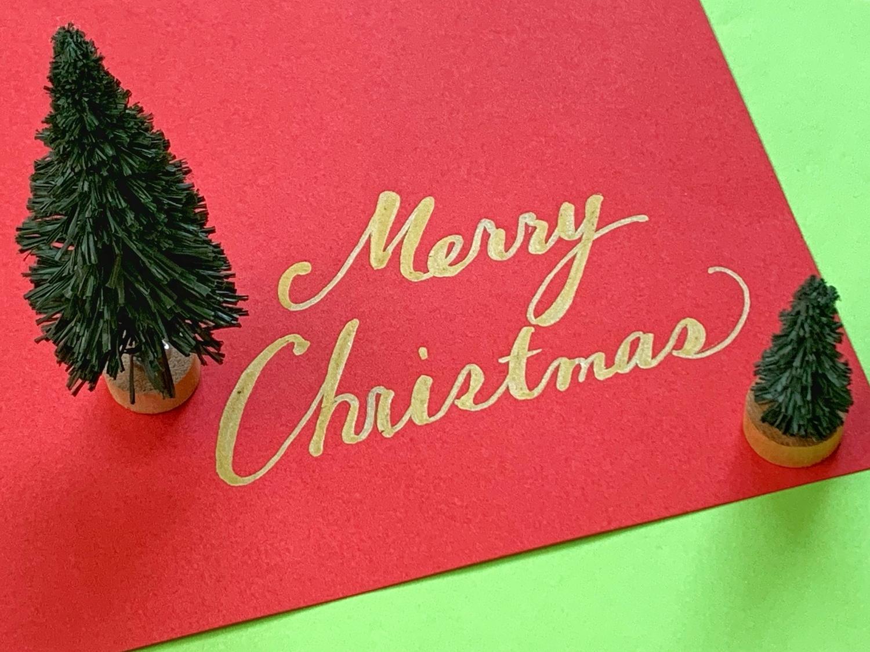 定番に「Merry Christmas!」