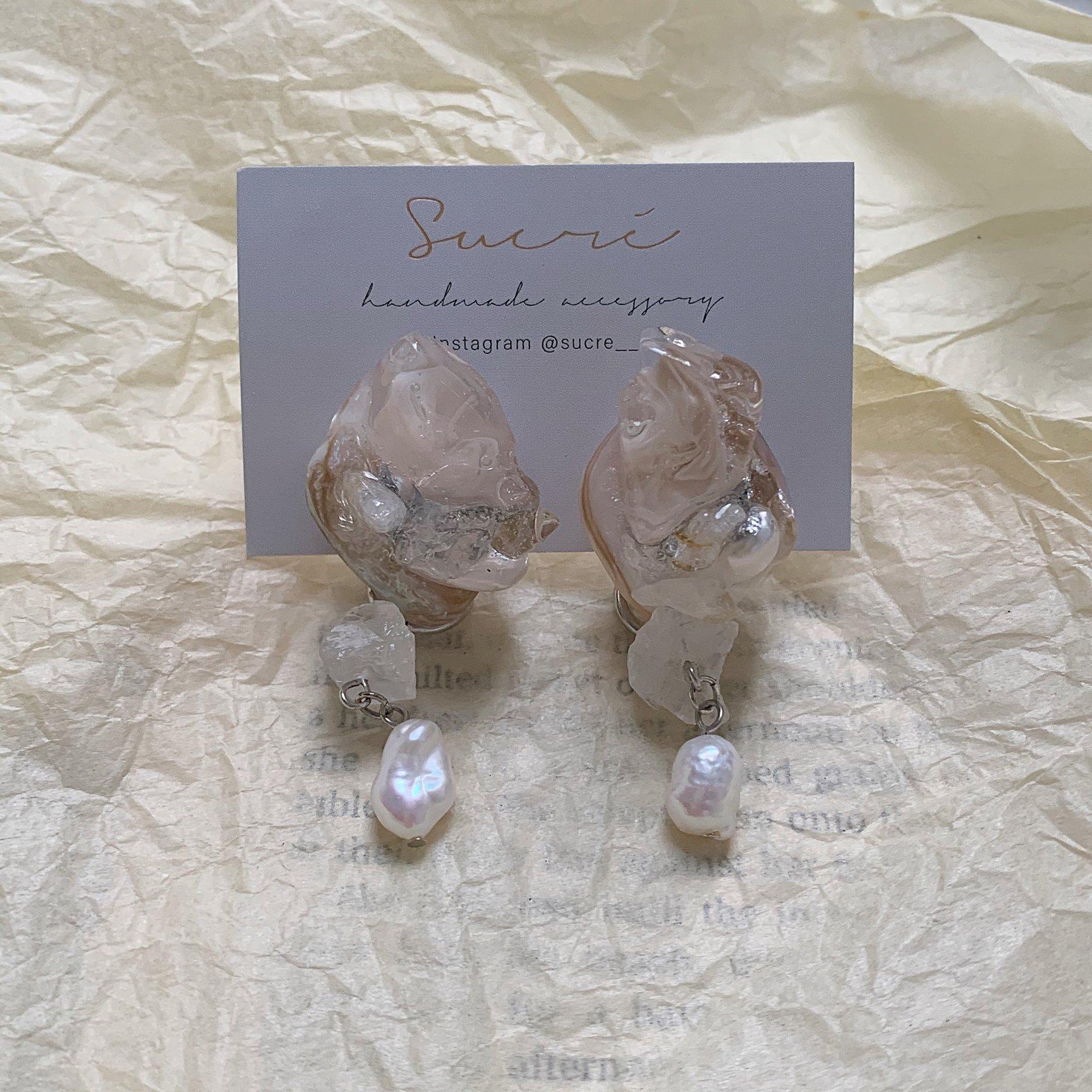 natural shell pierce / earring