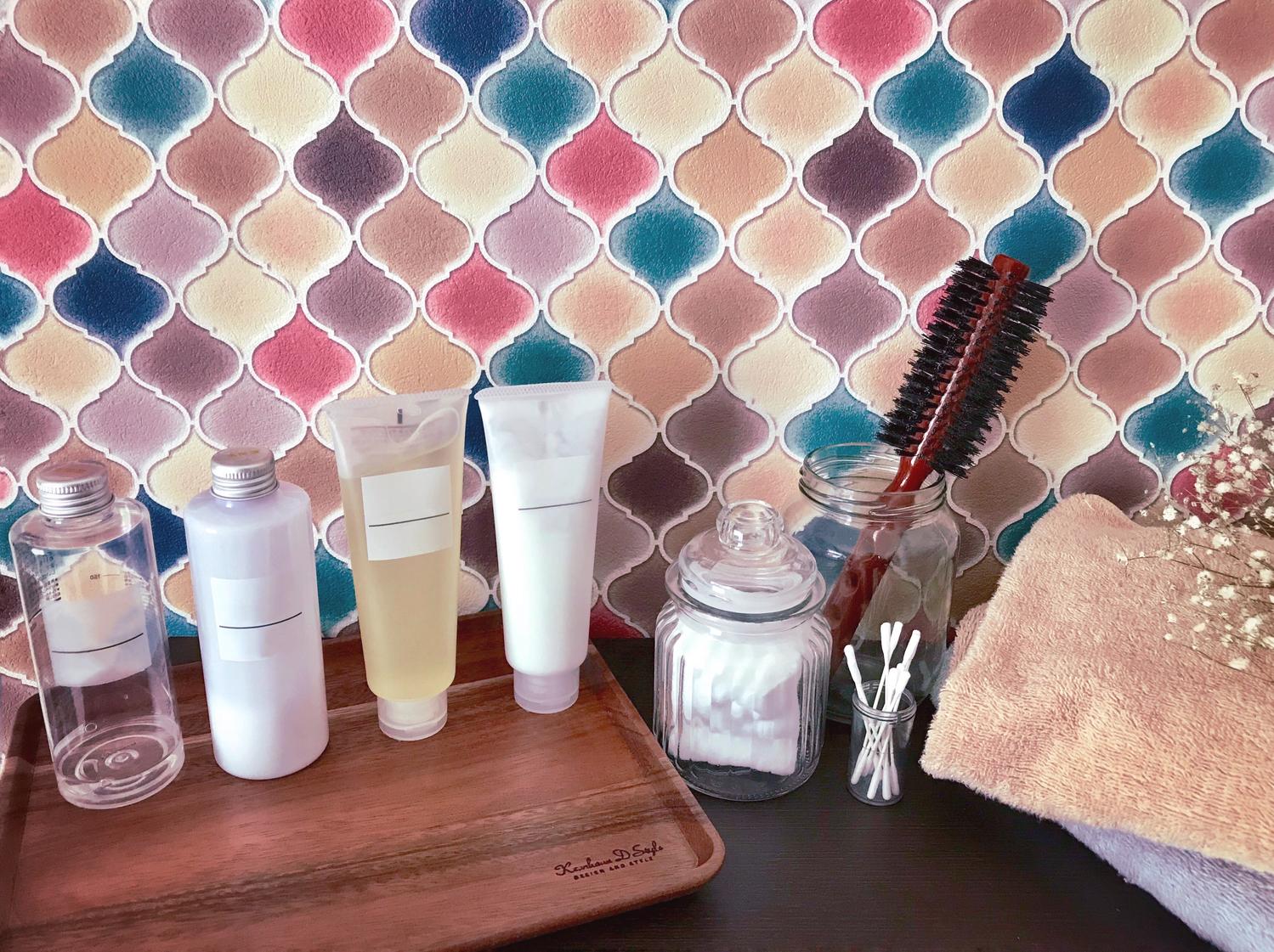 洗顔料・メイク落とし・化粧水を見直す