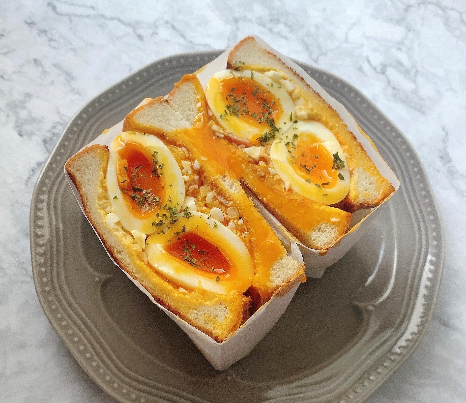 egg baby cafe風 半熟たまごサンド