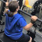 トレーニング中の女性