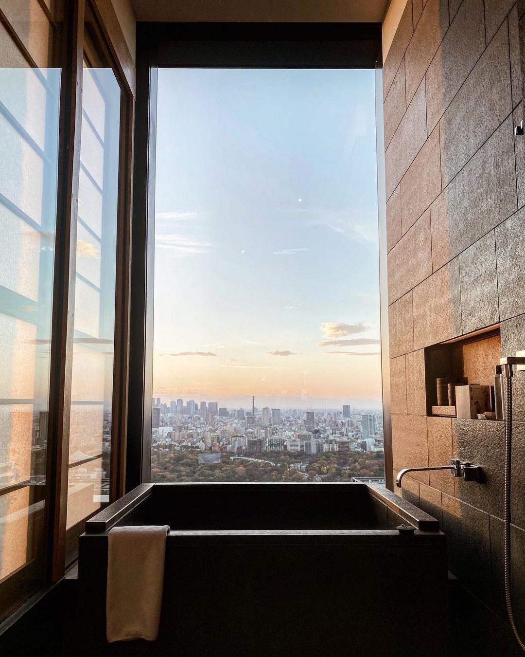 バスルームからの景色も最高!