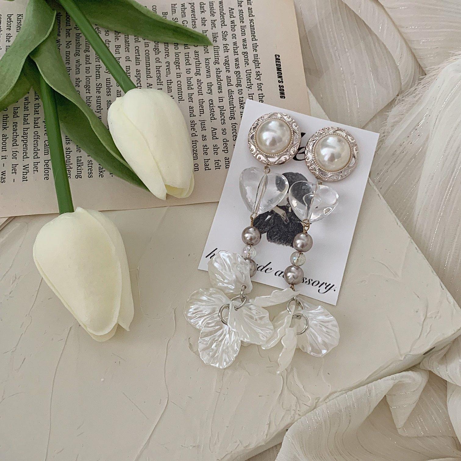 silver flower pierce