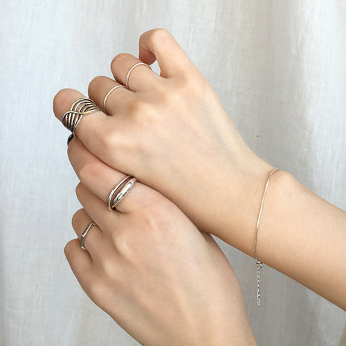 Silver925 snakechain bracelet 0011