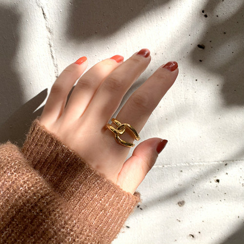 Silver925 tie ring gold 0115
