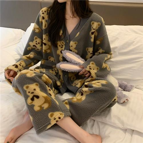全3色♡くまボアパジャマ♡