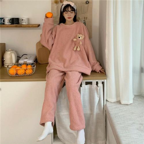 ♡もこもこ♡くま付きパジャマ♡