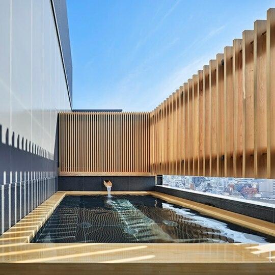 新宿を一望できる温泉