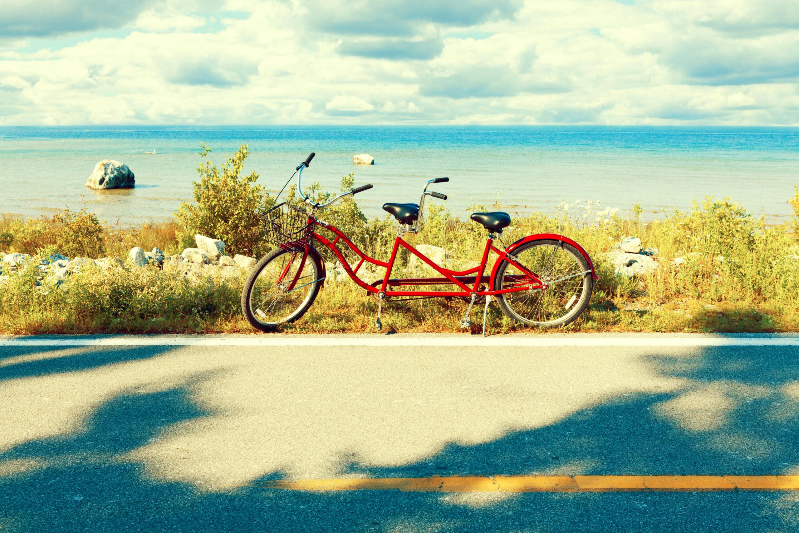 ♡ 公園で二人乗り自転車に乗りたい