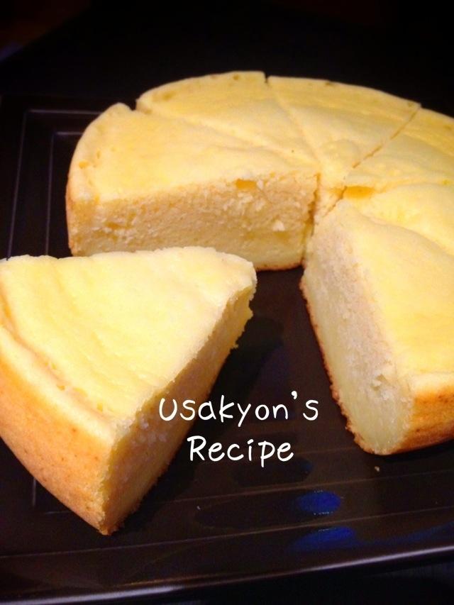 炊飯器で簡単!しっとりふんわりチーズスフレケーキ