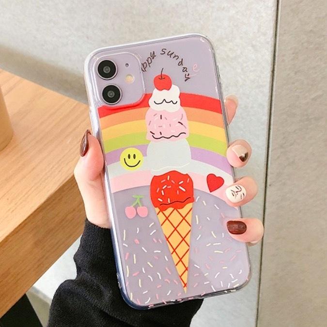 iPhoneケース ソフトクリーム