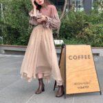 その日の気分に合わせて♡透明感たっぷり、シアースカートの春の着回しコーデ