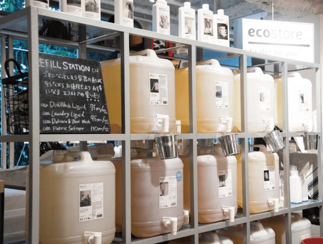 洗剤➝リフィルステーションで補充