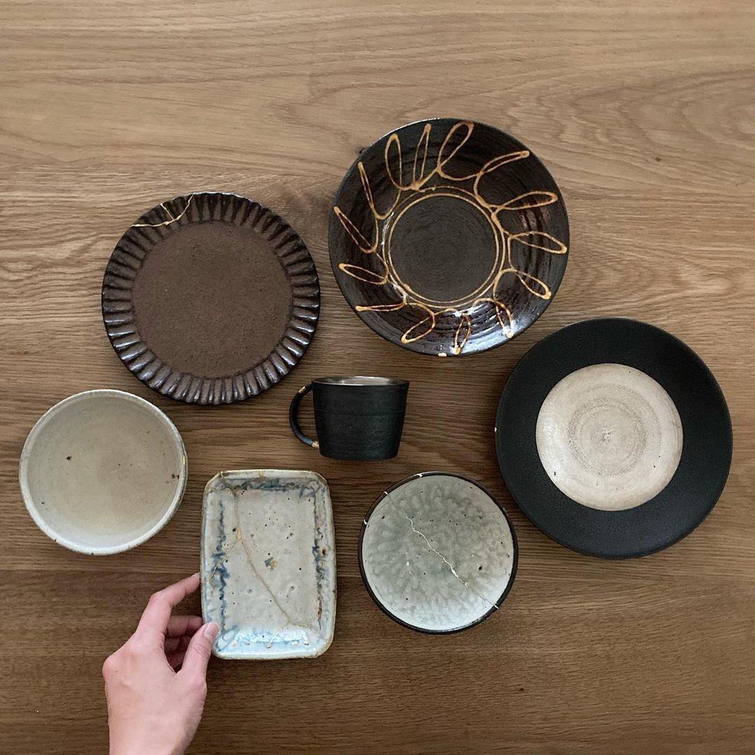 割れた食器➝金継ぎ
