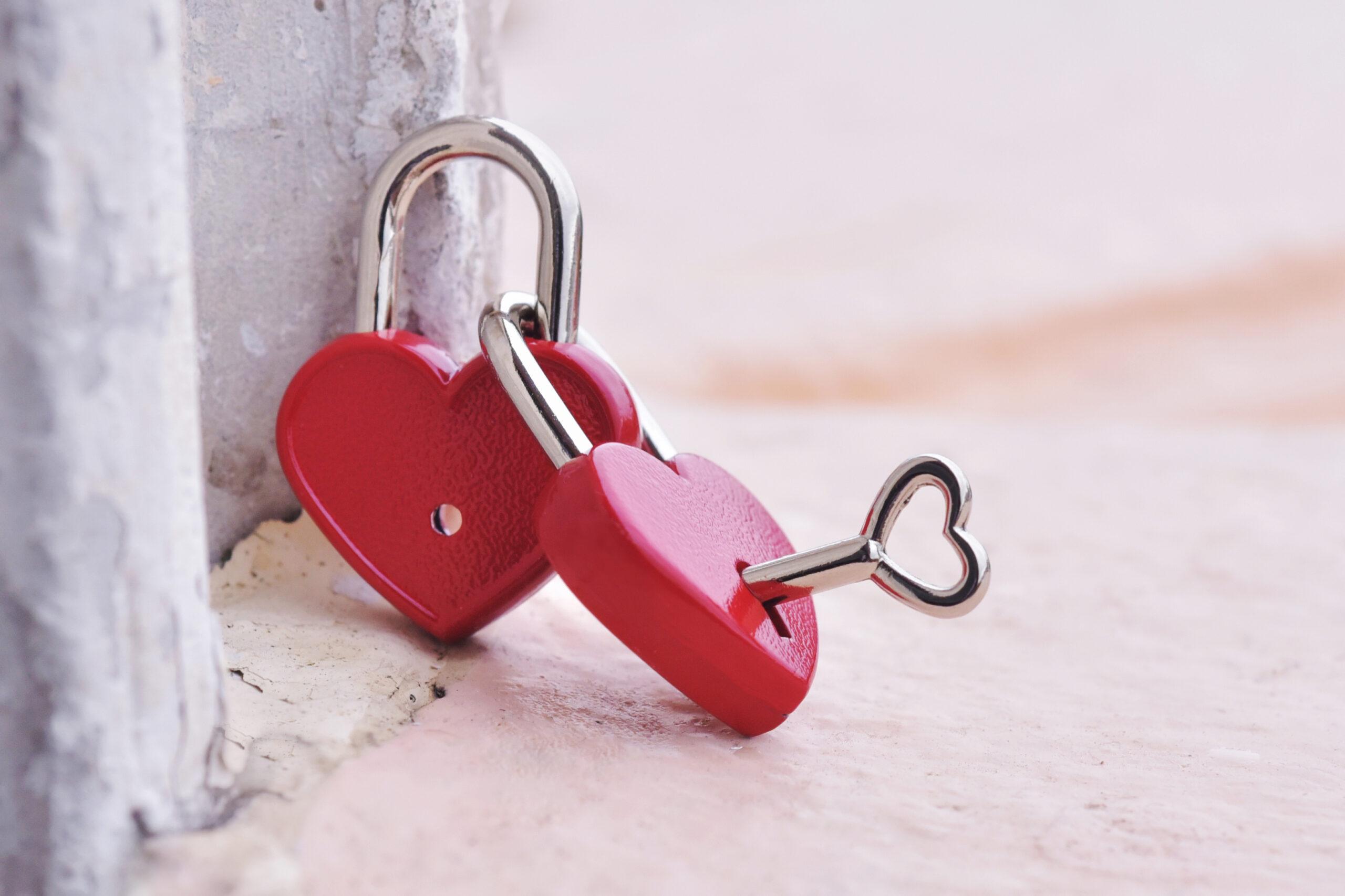 赤いハートの鍵