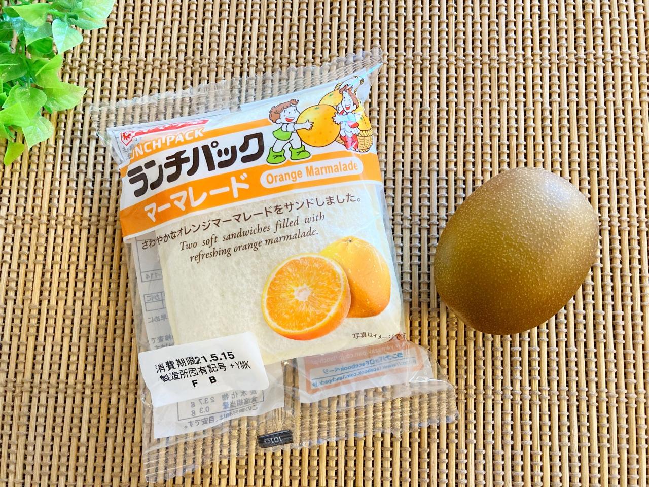 キウイのフルーツサンドの材料