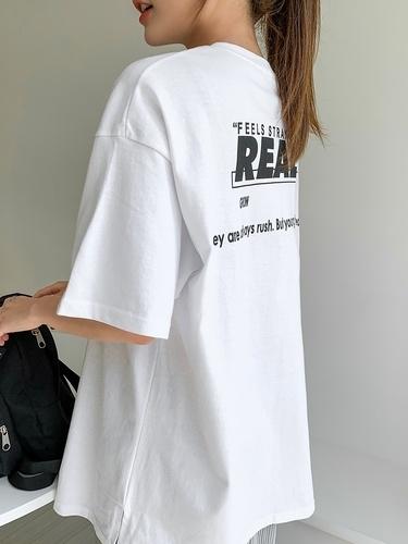 バックプリント入り半袖ビッグTシャツ