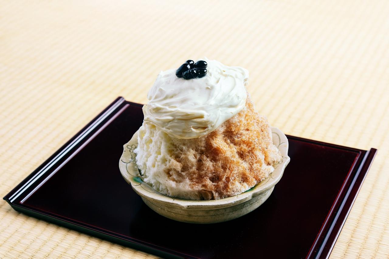 くろぎ茶々のかき氷「京都府産 和紅茶」