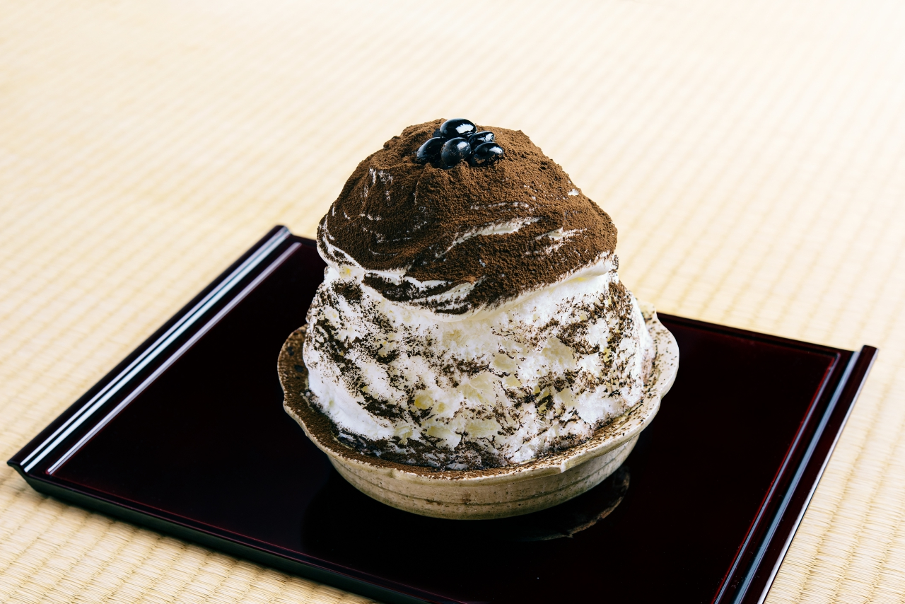 くろぎ茶々のかき氷「京都府産 ほうじ茶」