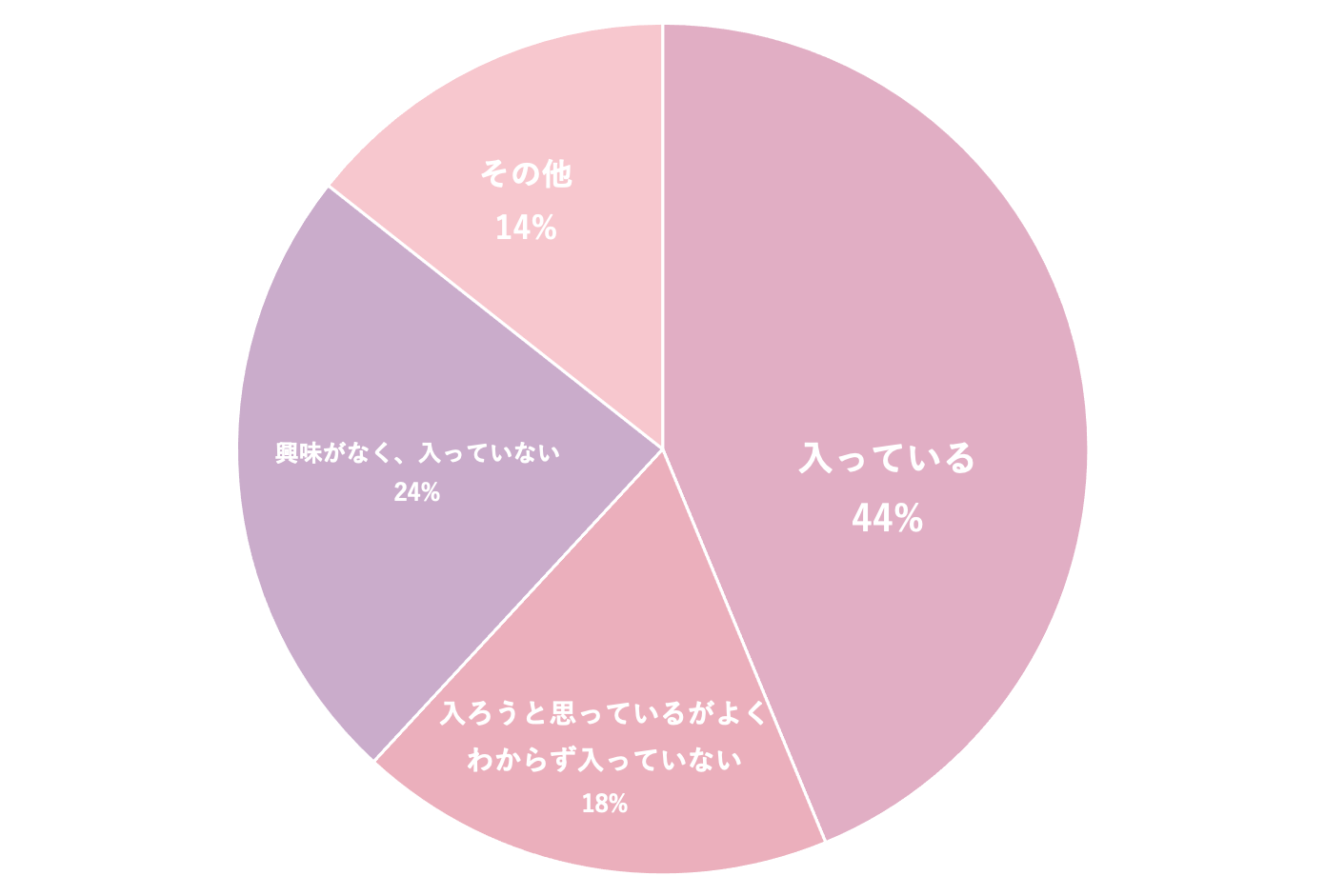 生命保険の円グラフ