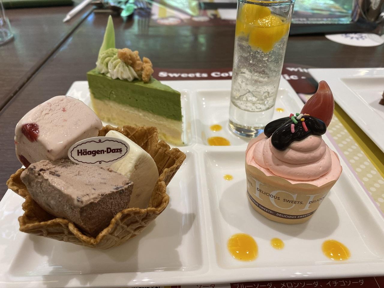 抹茶ムースやカップケーキ