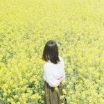 お花畑にいる女の子