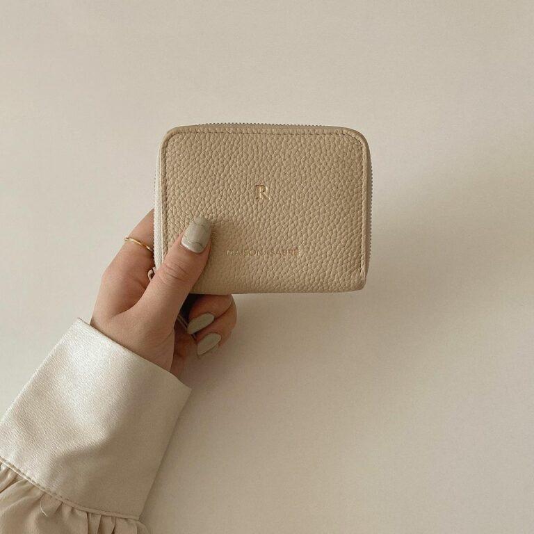 ベージュのお財布