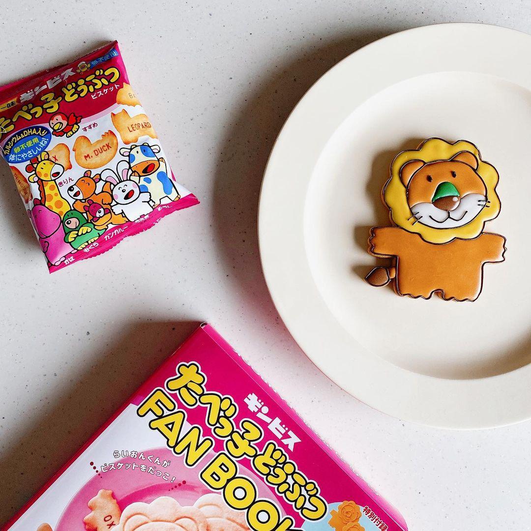 たべっ子動物のアイシングクッキー