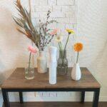 5つの花瓶とお花