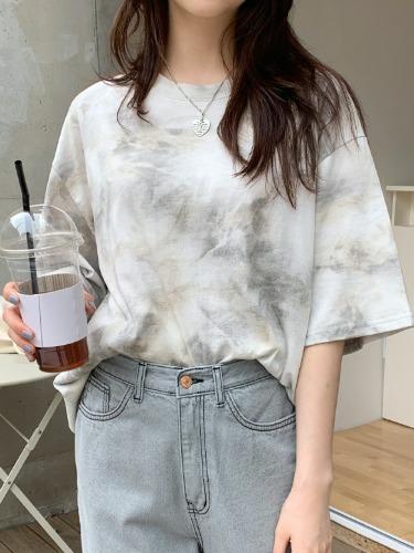 タイダイ柄オーバーサイズTシャツ