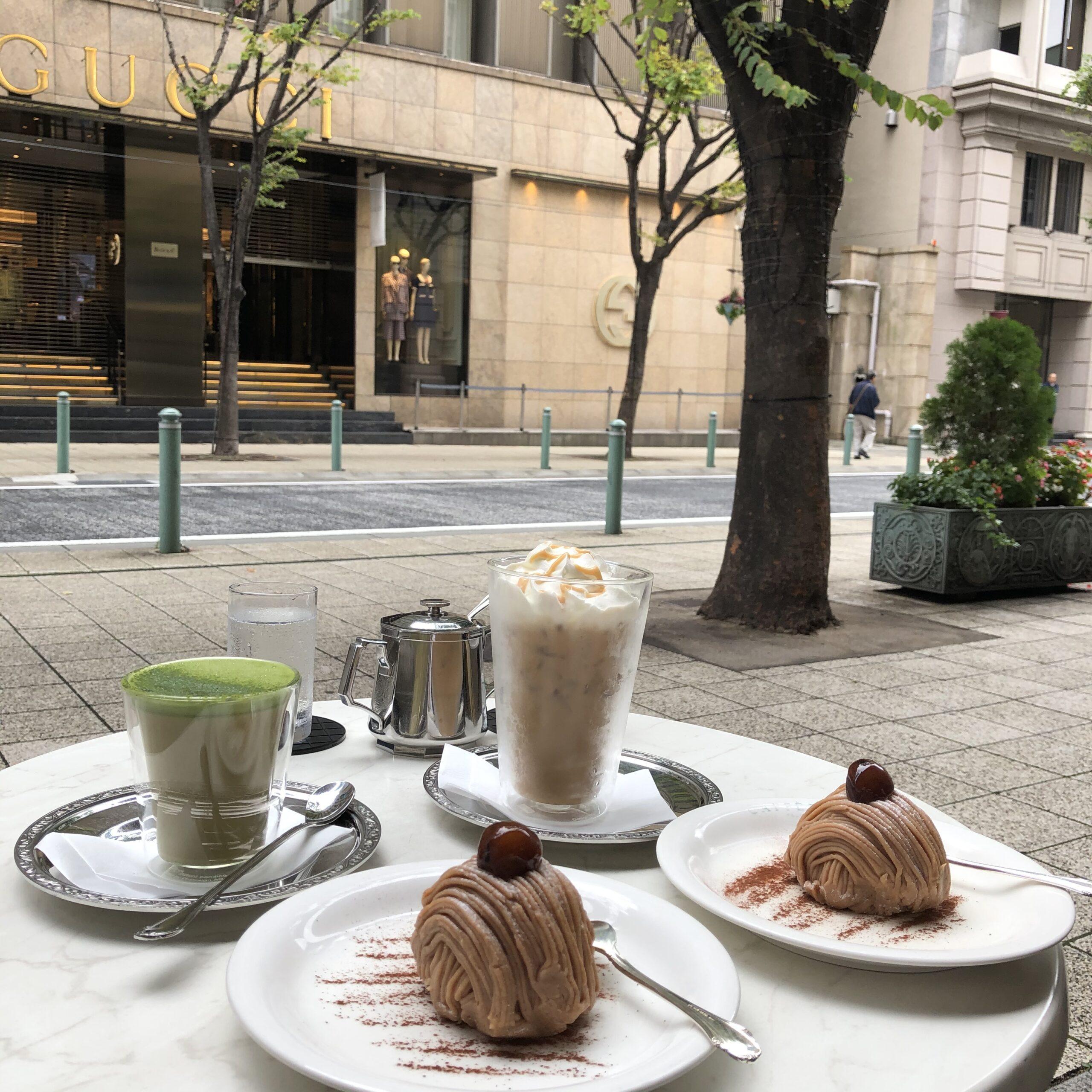 CAFFERAのモンブランとドリンク