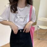 アンニュイイラストのTシャツ