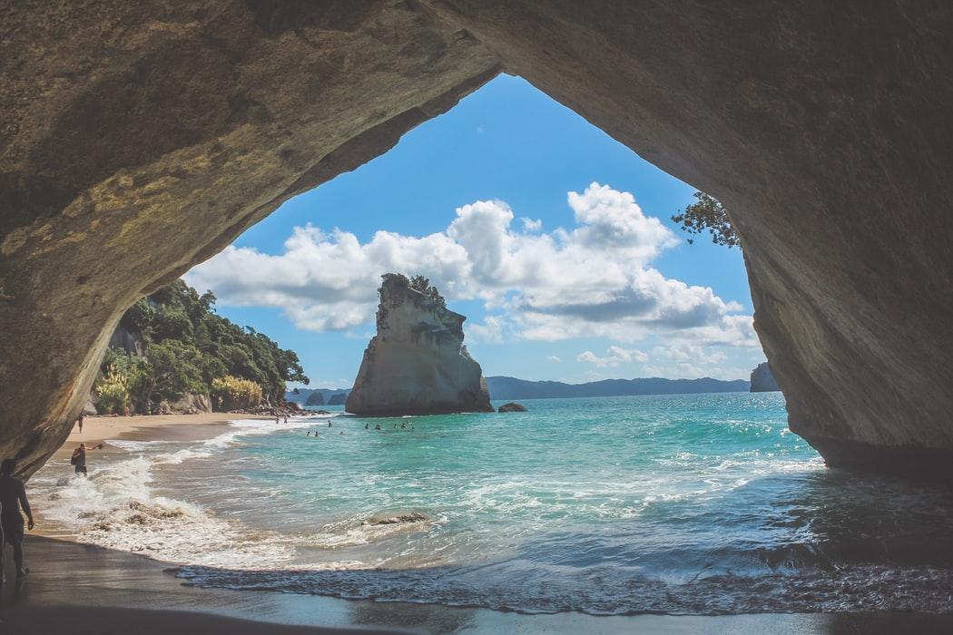 景観が美しい浜辺