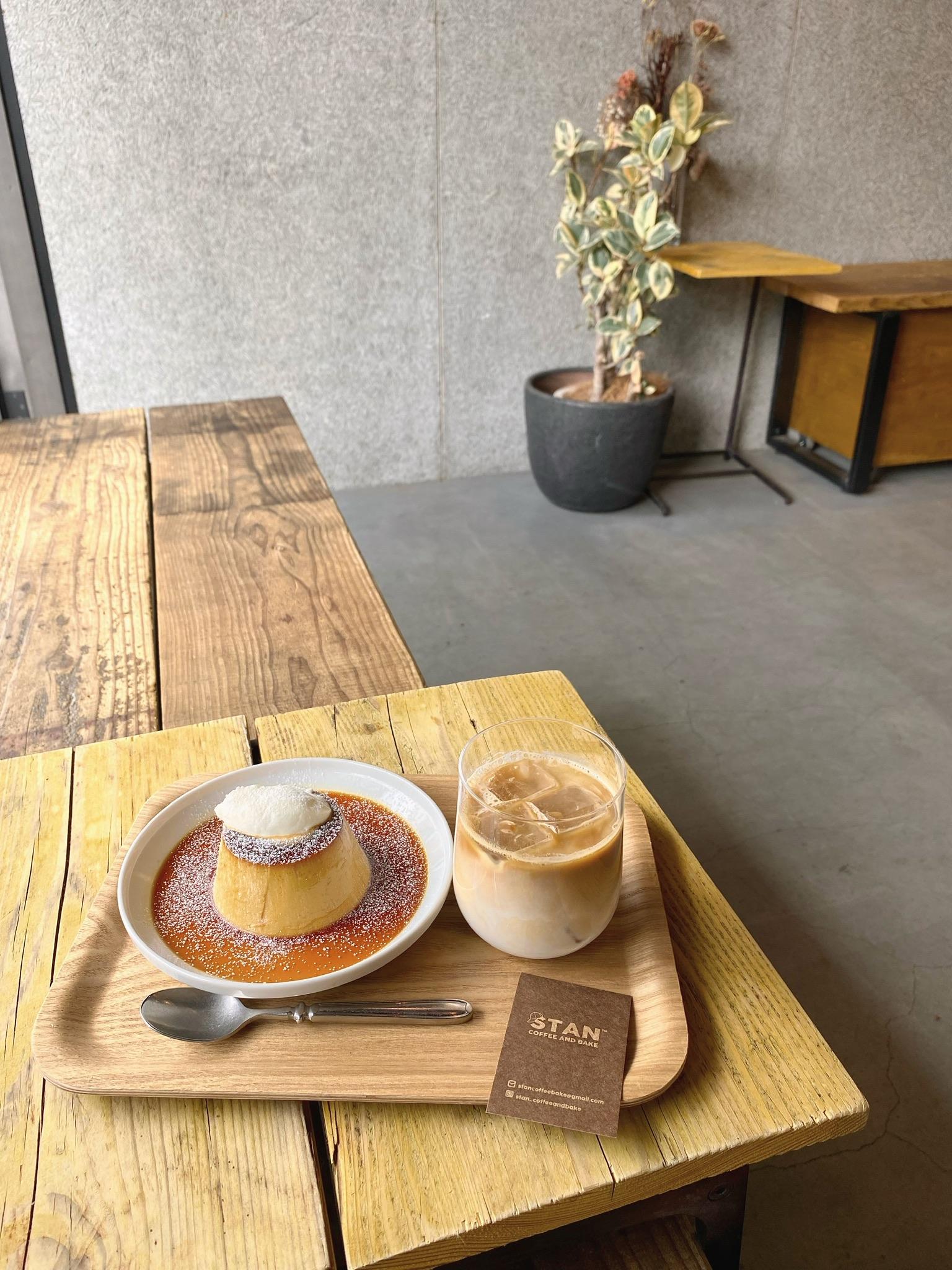 stan coffeeのプリントカフェラテ
