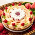 キルフェボン「桃とバニラムースのタルト」