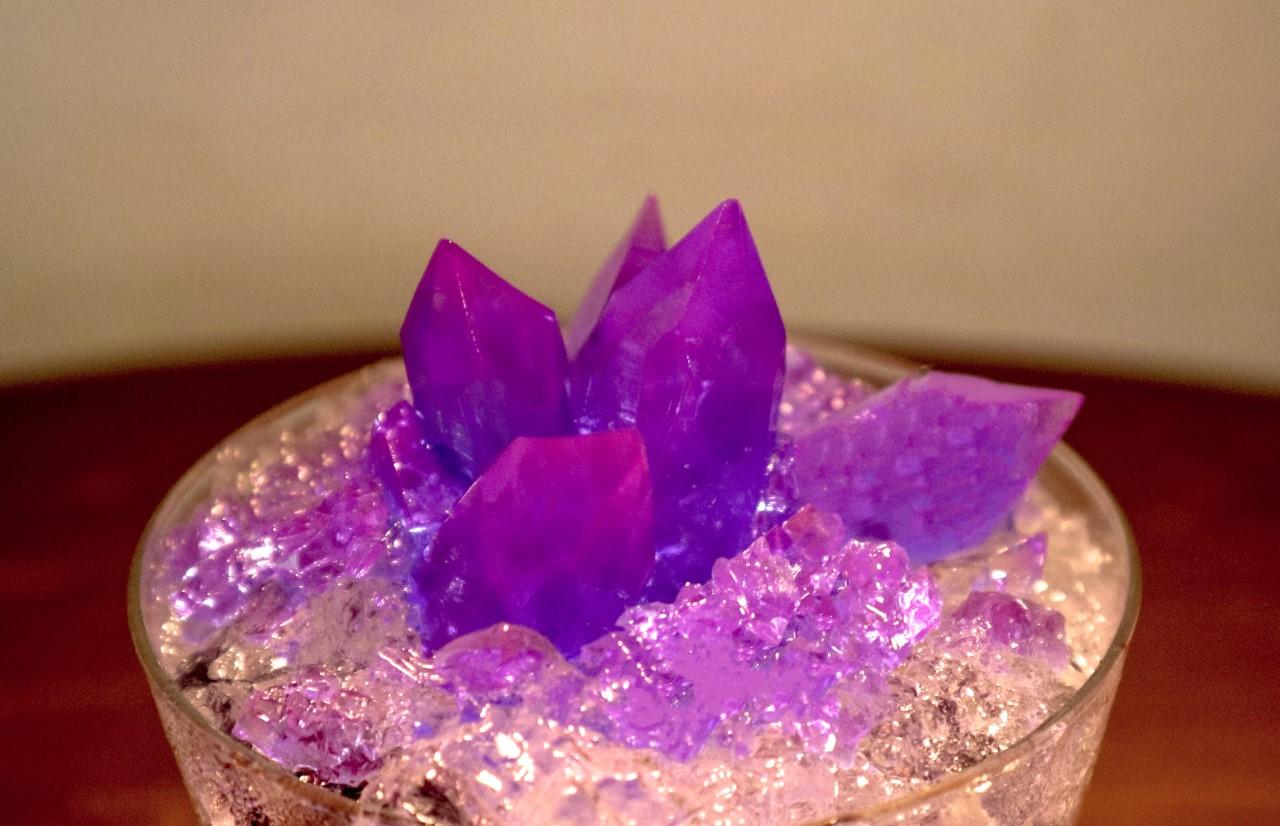 青の水晶パフェ
