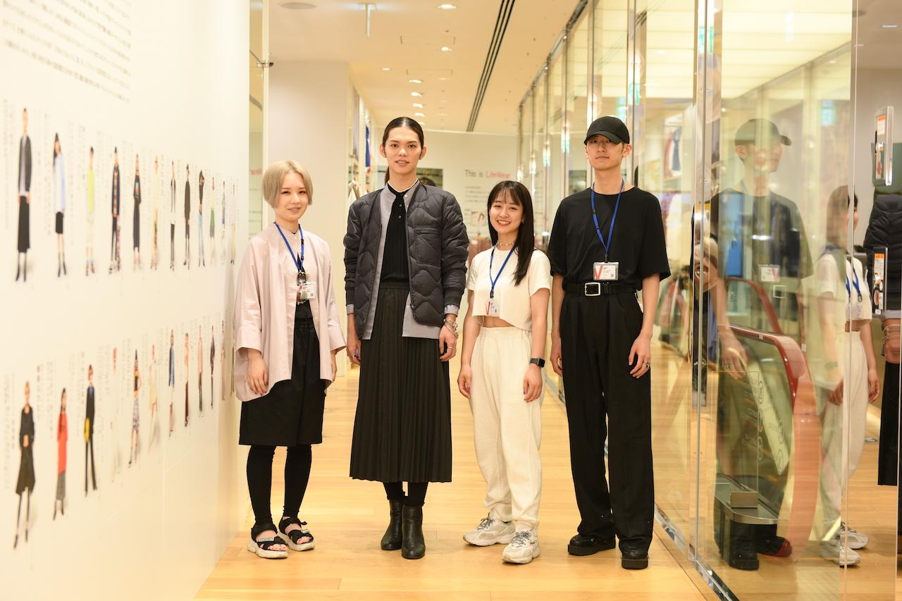 バンタン×ユニクロ「新・ボーダレスファッション」展示