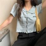 メロウ襟付きTシャツ