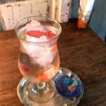 琥珀糖のソーダ水