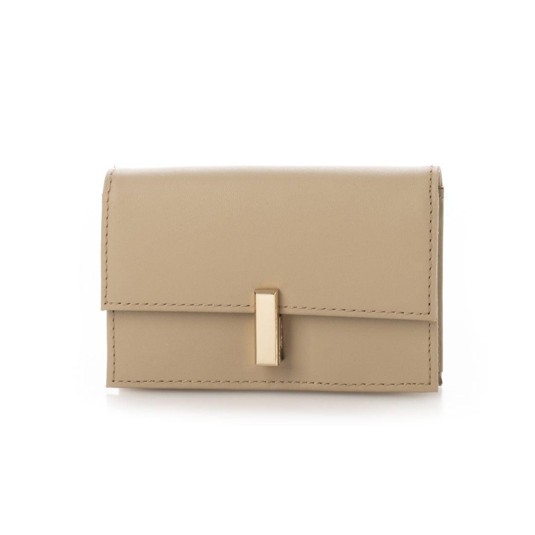 サミールナスリ Leather Card Case ベージュ