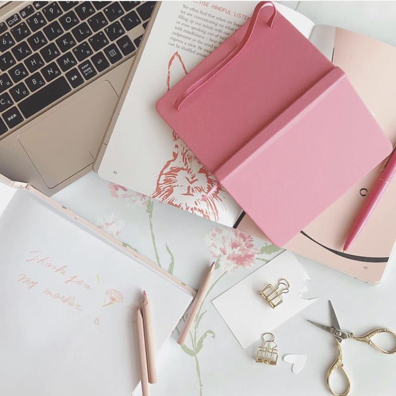 ピンクのノート
