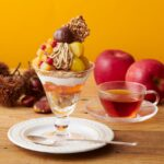 渋皮栗と林檎のモンブランパフェ