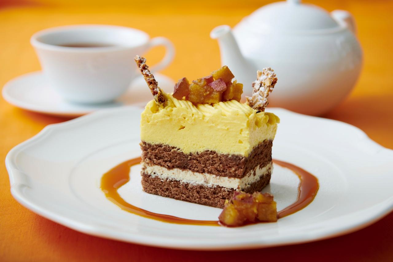 スイートポテトのショートケーキ