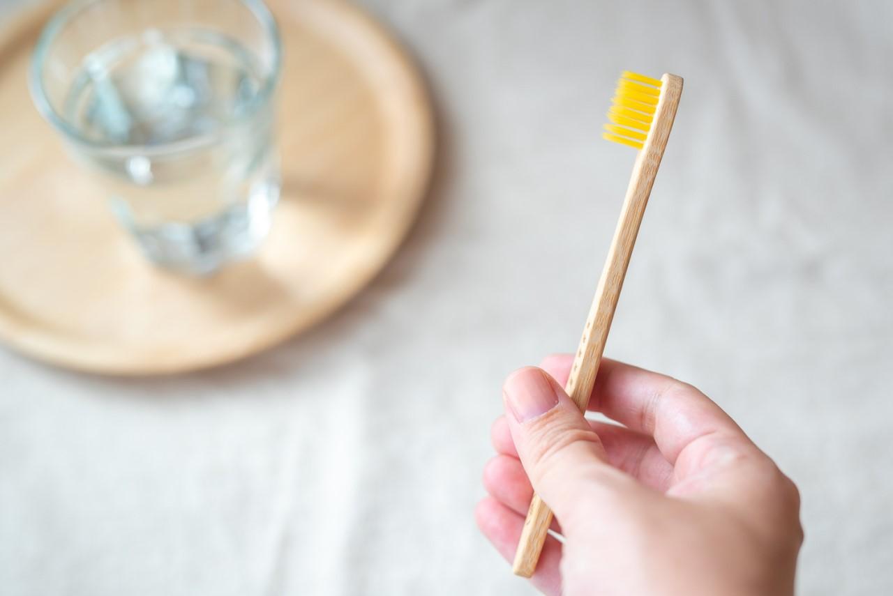 竹の歯ブラシ