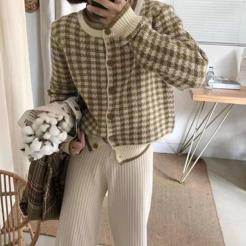 check knit cardigan 5c's
