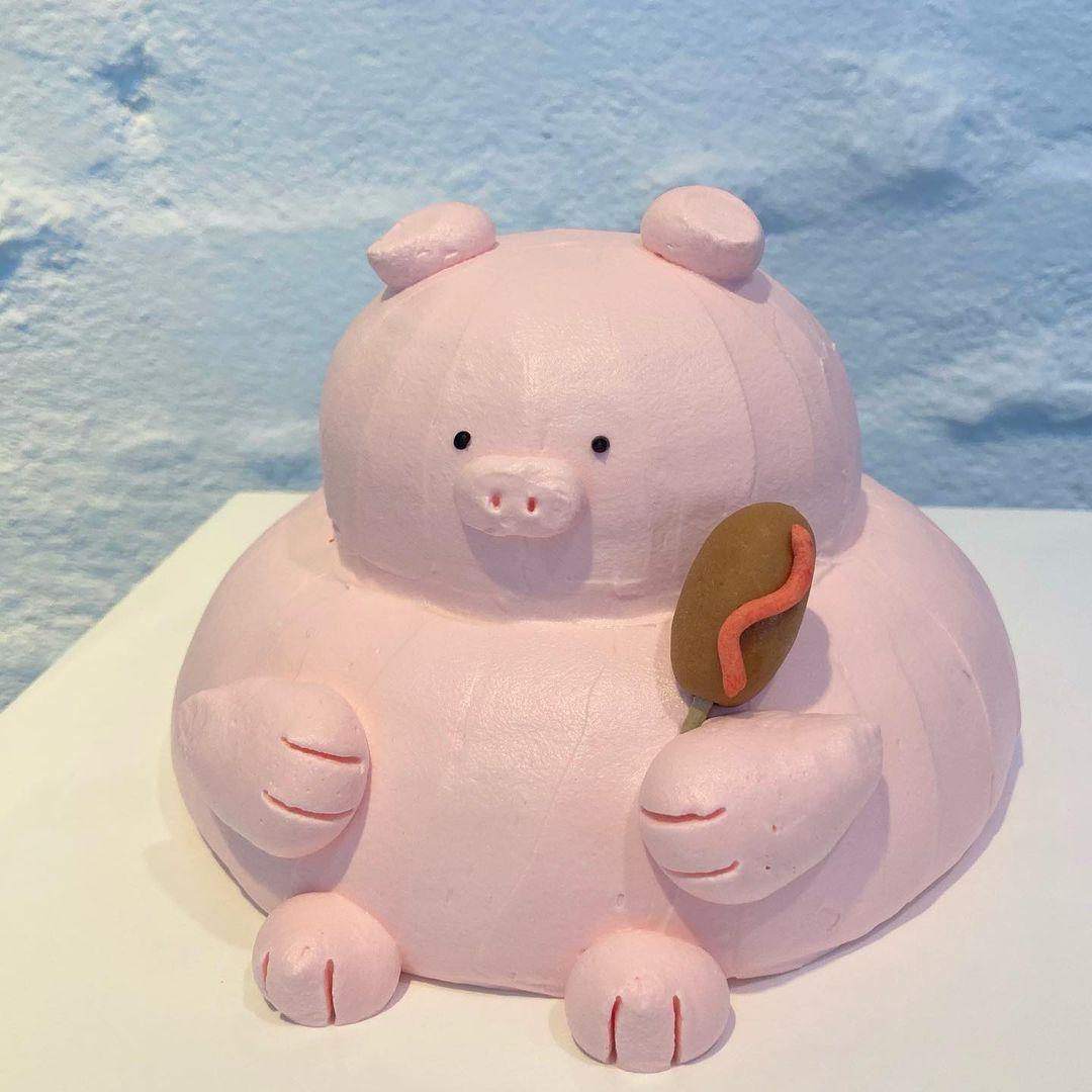 韓国のケーキ どうぶつケーキ